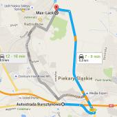 Trasa autostrada A1 - lakiernia Max-Lack