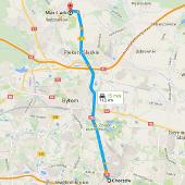 Trasa Chorzów - lakiernia Max-Lack